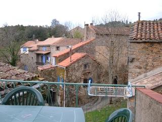 La terrasse avec vue sur la vallée du F2 à Brès