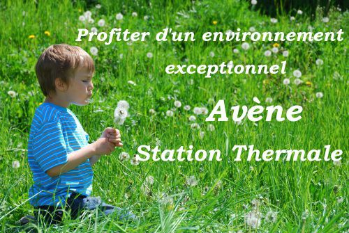 Avène station thermale dans l'Hérault